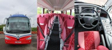 luxury brand new coach hire scania